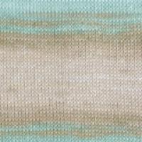 Пряжа Ализе Бахар Батик (3675 голубой-беж-бирюза)