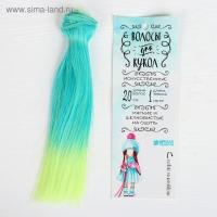 Волосы - тресс для кукол «Прямые» длина волос: 20 см, ширина: 100 см, №LSA038 3588470