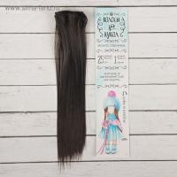 Волосы - тресс для кукол Прямые длина волос 25 см, ширина 100 см, цвет 3