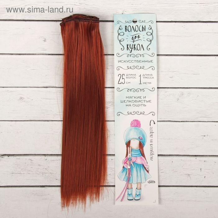 Волосы - тресс для кукол Прямые длина волос 25 см, ширина 100 см, цвет 350