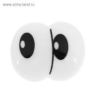 Глаза винтовые сдвоенные с заглушками, размер 3,5х2,8 см