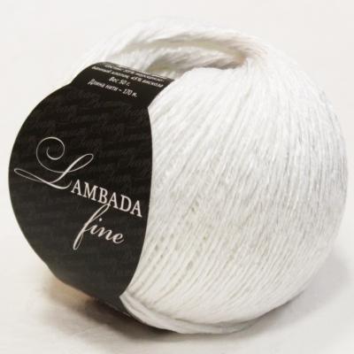 Пряжа Сеам Ламбада фине (01 белоснежный)