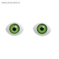 Глаза, размер радужки 8 мм, цвет зеленый, 1 шт