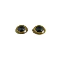 Глазки №33 d1,3 см золотые