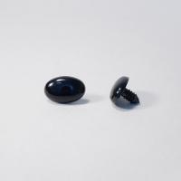 Носик винтовой Овал 22/15 черный (О2), 1 шт