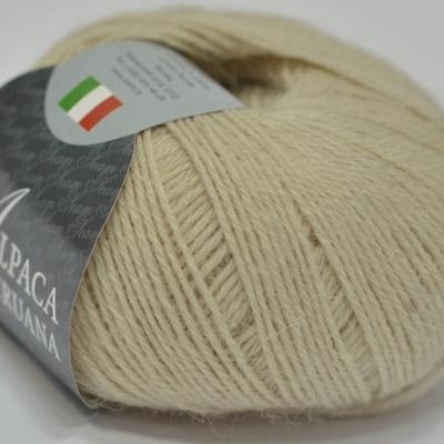 Пряжа Сеам Альпака перуана (Пряжа Сеам Альпака перуана, цвет 206 песочный светло-бежевый)