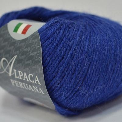 Пряжа Сеам Альпака перуана (Пряжа Сеам Альпака перуана, цвет 6730 яркий ультрамариновый синий)