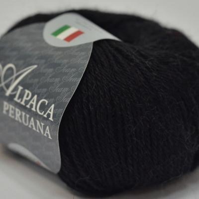 Пряжа Сеам Альпака перуана (Пряжа Сеам Альпака перуана, цвет 01 чёрный)