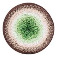 Пряжа YarnArt Flowers (272 зелёный/крем/коричневый)