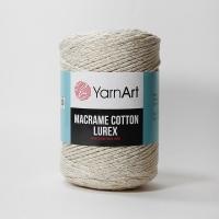 Пряжа YarnArt Macrame Cotton Lurex (724 серо-бежевый)