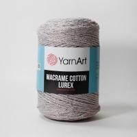 Пряжа YarnArt Macrame Cotton Lurex (727 серый)