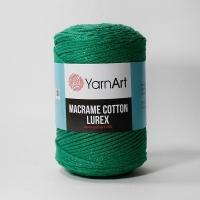 Пряжа YarnArt Macrame Cotton Lurex (728 зеленый)