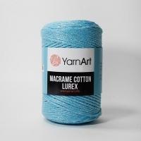 Пряжа YarnArt Macrame Cotton Lurex (733 яр.голубой)