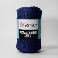 Пряжа YarnArt Macrame Cotton Lurex (740 синий)