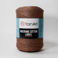 Пряжа YarnArt Macrame Cotton Lurex (742 коричневый)