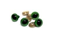 Глазки с фиксатором №9 кошачьи 14х20 мм зеленый 26545