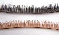 Ресницы лентой 20 см коричневые
