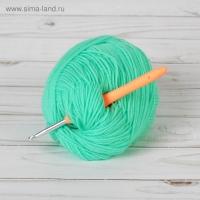 Крючок для вязания, с силиконовой ручкой, 5 мм, 14 см, цвет МИКС