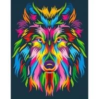 Альбом картины по номерам (склад Ростов-на-Дону) 40х50 см в ассортименте (GX 23828 Радужный волк)