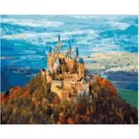 Альбом картины по номерам (склад Ростов-на-Дону) 40х50 см в ассортименте (PK 49022 Замок на вершине горы)