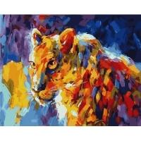 Альбом картины по номерам (склад Ростов-на-Дону) 40х50 см в ассортименте (GX 26897 Взгляд леопарда)