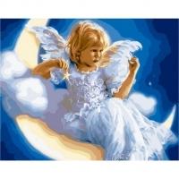 Альбом картины по номерам (склад Ростов-на-Дону) 40х50 см в ассортименте (GX 29044 Лунный ангел)