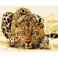 Альбом картины по номерам (склад Ростов-на-Дону) 40х50 см в ассортименте (GX 4175 Абстрактный леопард)