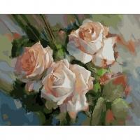 Альбом картины по номерам (склад Ростов-на-Дону) 40х50 см в ассортименте (GX 21014 Три чайные розы)