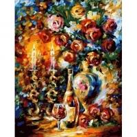 Альбом картины по номерам (склад Ростов-на-Дону) 40х50 см в ассортименте (GX 32818 Тепло свечей)