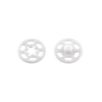 Кнопки пришивные пластик PKL-040 7,10,15,20 мм 01 белый, 1 шт