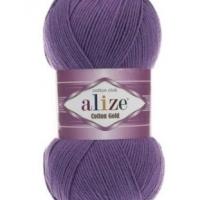 Пряжа Ализе Коттон Голд (44 фиолетовый)