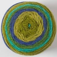 Пряжа Картопу Джерси (1628 хаки/синий/зеленый)