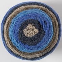 Пряжа Картопу Джерси (1658 бежевый/василек/т.синий)