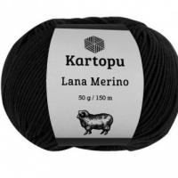 Пряжа Картопу Лана Мерино (940 чёрный)