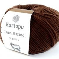 Пряжа Картопу Лана Мерино (890 тёмно-коричневый)