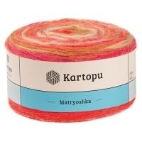 Пряжа Картопу Матрёшка (2132 розовый/оранжевый/карамель)