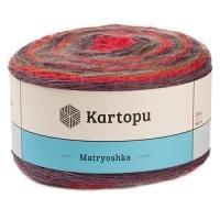 Пряжа Картопу Матрёшка (2133 красный/коричневый)