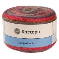 Пряжа Картопу Матрёшка Люкс (2133 красный/коричневый)