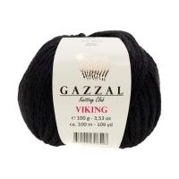 Пряжа Gazzal Viking (4018 чёрный)