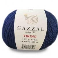 Пряжа Gazzal Viking (4019 тёмно-синий)