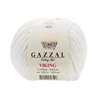 Пряжа Gazzal Viking (4009 белый)