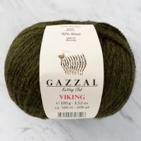 Пряжа Gazzal Viking (4010 тёмно-оливковый)