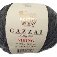 Пряжа Gazzal Viking (4016 тёмно-серый)