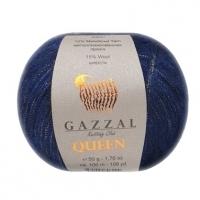 Пряжа Gazzal Queen (7339 тёмно-синий)