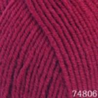 Пряжа Himalaya Lana Lux (74806 вишнёвый)