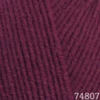Пряжа Himalaya Lana Lux (74807 бордовый)