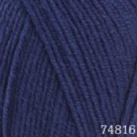 Пряжа Himalaya Lana Lux (74816 тёмно-синий)