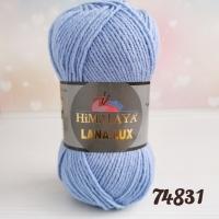 Пряжа Himalaya Lana Lux (74831 светлый джинс)