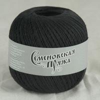 Пряжа Семеновская Крок макс (30001 чёрный)