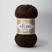 Пряжа Ализе Дива (26 коричневый)